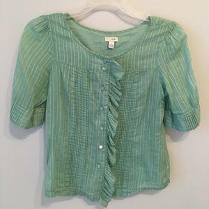Anthropologie Odille flutter blouse
